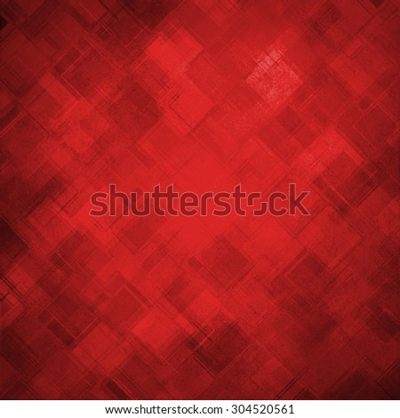red diamond block pattern background, Christmas color, abstract background design, techno background - stock photo