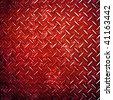 red diamond metal background - stock photo