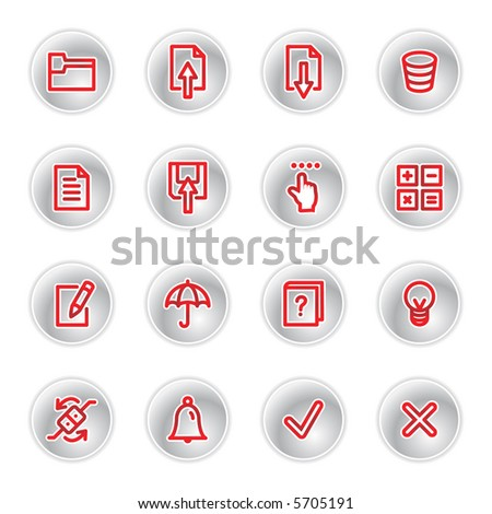 red diary icons (raster) - stock photo
