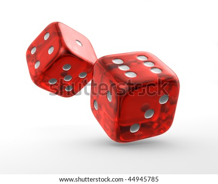 red dice - stock photo