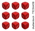 Red Dice Collection with words devoted to Business and Finance - stock photo