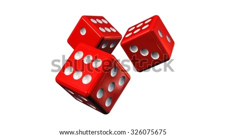 red Dices - isolated on white background