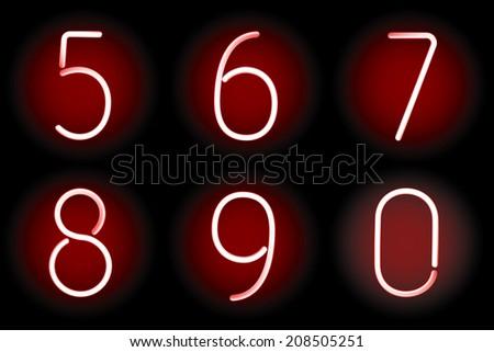 Red  digits.  illustration. - stock photo