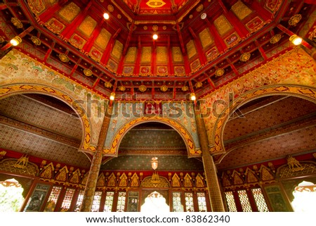 red dome chinese style - stock photo