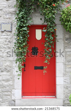 Red Door - stock photo