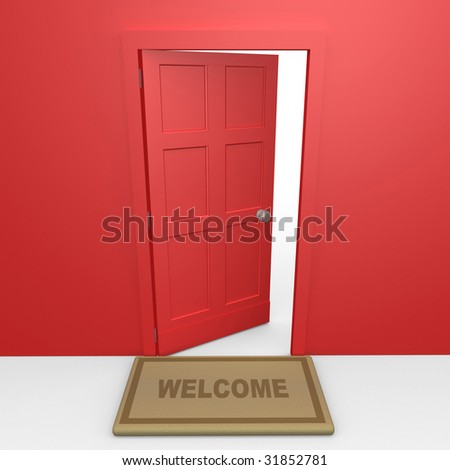 Red Door - stock photo