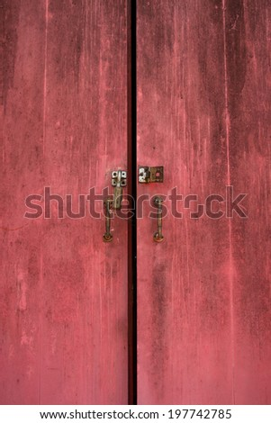 Red door with the lock