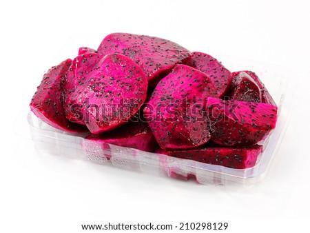 red dragon fruit  - stock photo