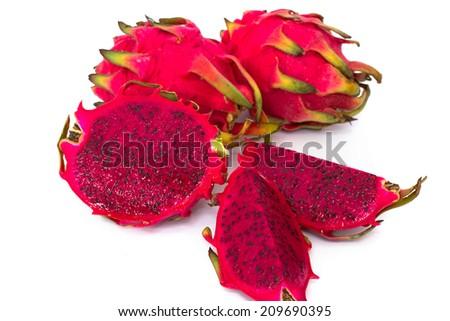 red dragonfruit - stock photo