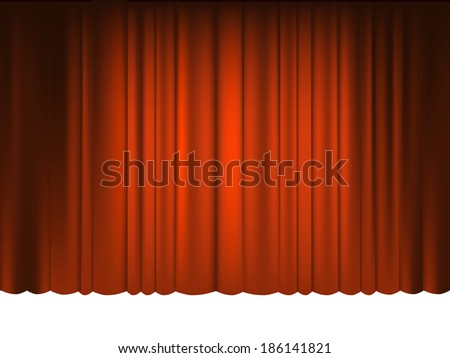 Red Draped Theater. Raster copy. - stock photo