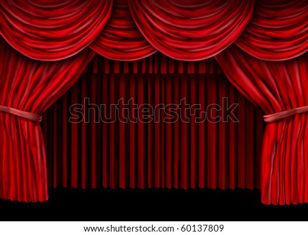 red drapes curtain stage theater presentation