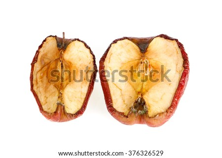 red dried apple. dry apple - stock photo