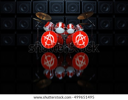 anarchy grunge symbol wall stock images royaltyfree