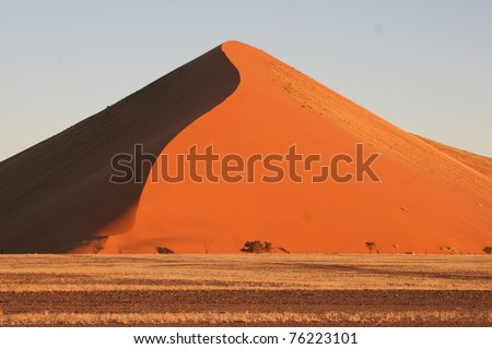 Red dune in Sossusvlei, Namibia - stock photo