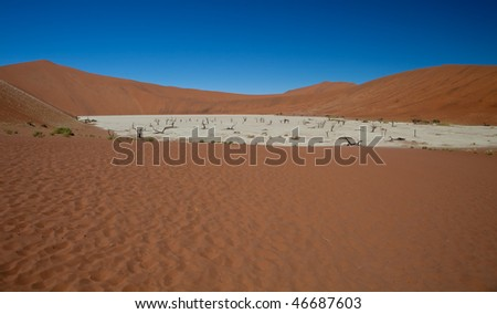 Red dunes of Namibia - stock photo