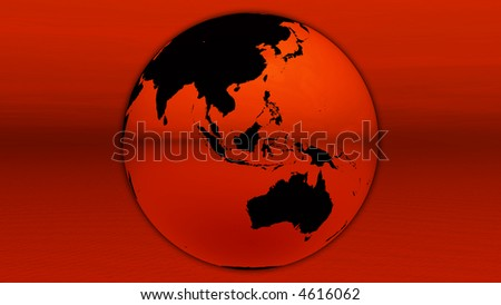 Red earth on horizon - stock photo