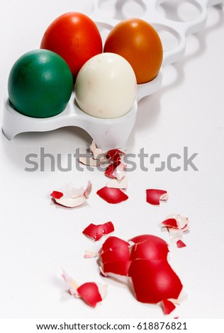 Red egg shell