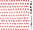 Red elephants pattern - stock
