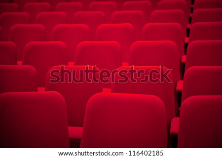 Red Empty Auditorium Seats