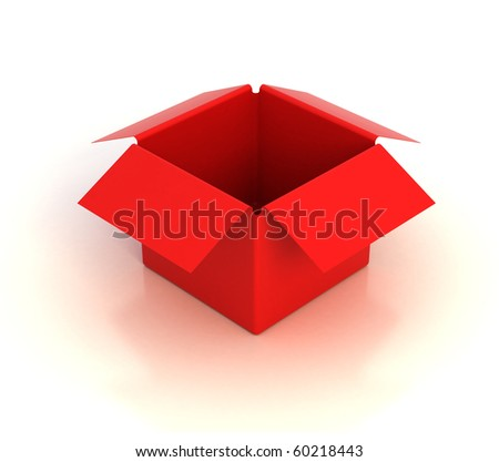 red empty box - stock photo