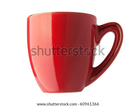 Red empty cup isolated on a white background