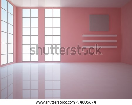 red empty room