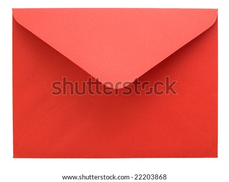 Red envelope isolated on white