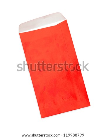 Red envelope on white background