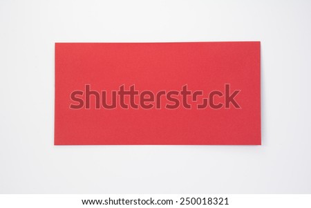 red envelope on white background - stock photo