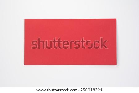 red envelope on white background - stock photo
