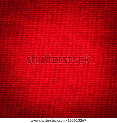 Red fabric texture - stock photo