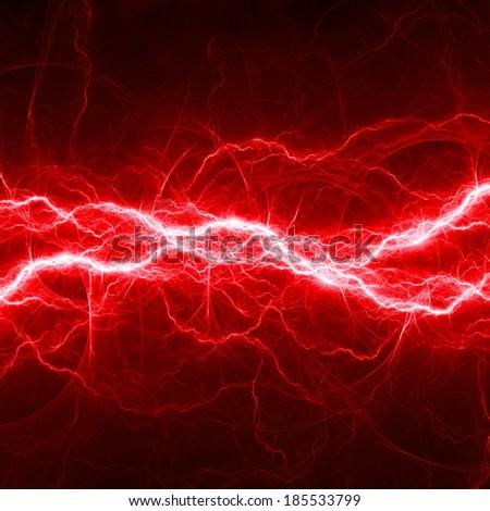 Red fantasy lightning - stock photo
