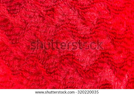 red faux fur texture background - stock photo