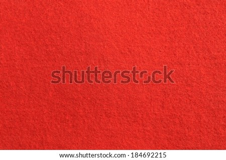 Red felt carpet. - stock photo