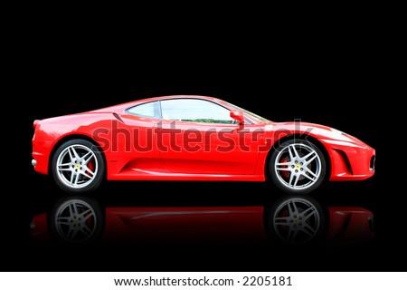 Red Ferrari F430 - stock photo