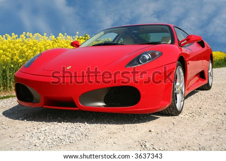 red ferrari f430 - stock photo