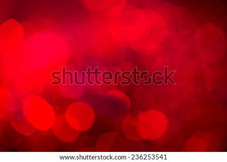 Red festive New Year'?s background. Abstract with bright twinkles, sparkles, blurred, defocused light. - stock photo