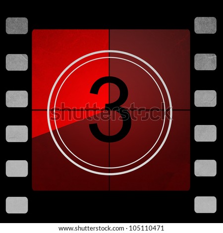 red Film countdown 3