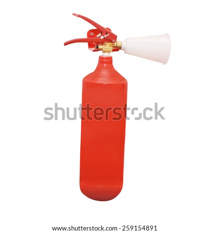 Red fire extinguisher - stock photo