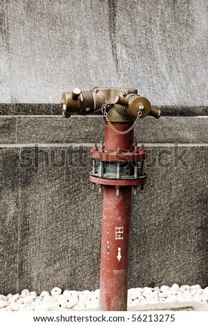 Red Fire Hydrant on a City Sidewalk - stock photo