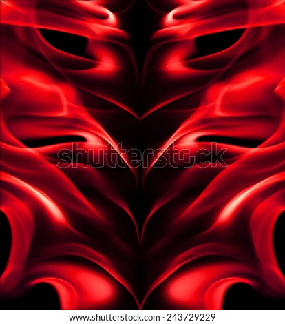 Red fire light - stock photo