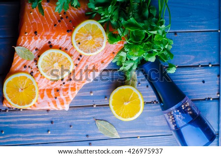 Red fish fillet stock photo 426975937 shutterstock for Red fish fillet