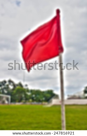 Red Flag football Blurred Background