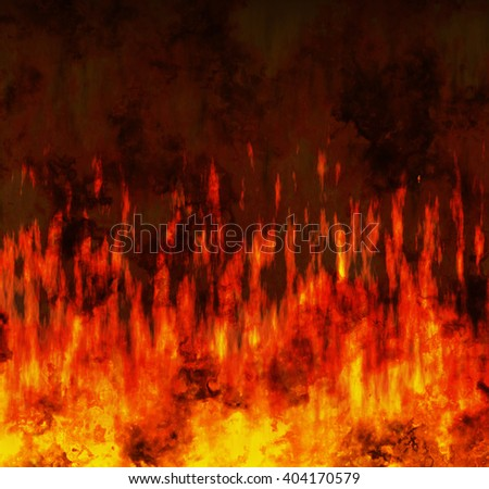 red flame fire texture background - stock photo