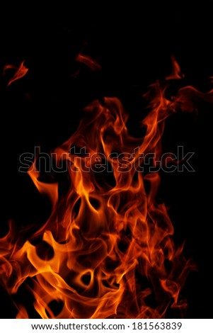 red flames of fire as red black backgorund - stock photo