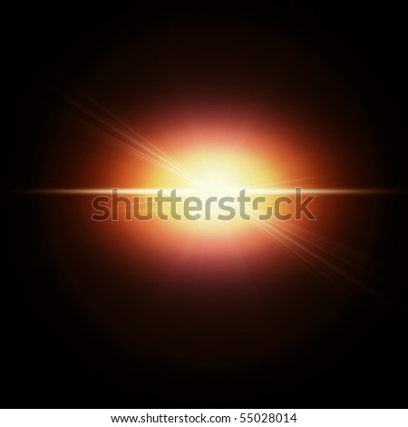 Red flash - stock photo