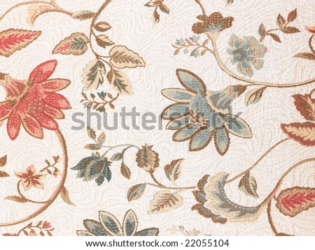 Red flowers in white background cloth - stock photo