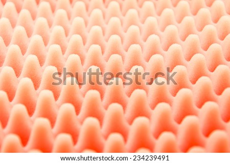 Red foam texture  - stock photo