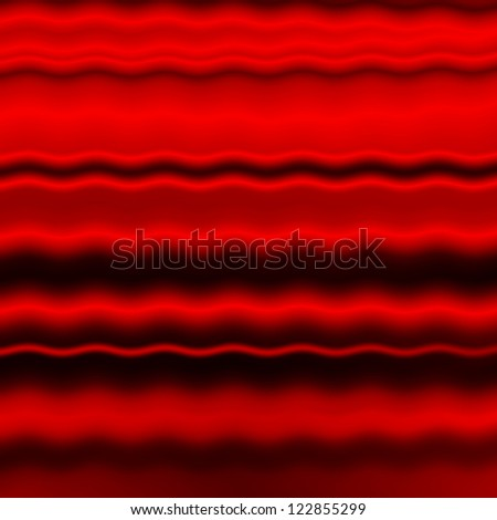 red folded fabric texture background - stock photo