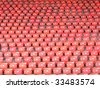 Red folding seats - stock photo